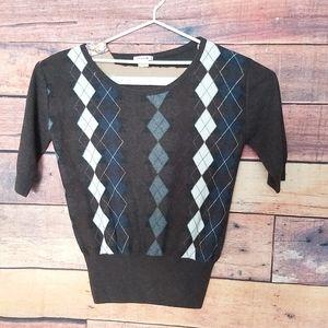 Lacoste XXXL mohair blend argyle sweater